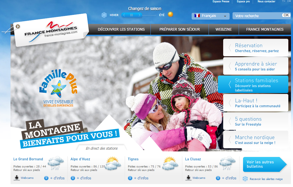 Site Officiel des Stations de Ski en France   France Montagnes